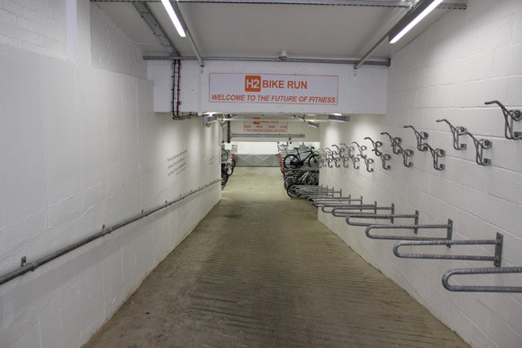 Heading into the H2 Bike Run gym which is located on the lower ground