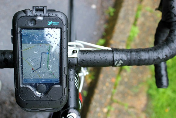 Following a map on your iPhone whilst its mounted to the handlebars