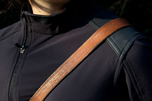 Patch close up view on Rapha jacket