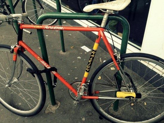 Well secured bike