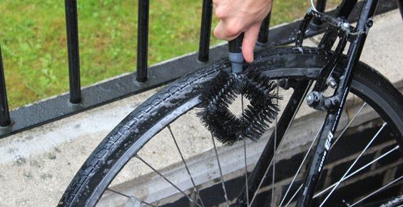 Step 3 - Scrub wheels