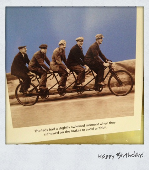 Its My Birthday Cue The Mandatory Cycling Cards