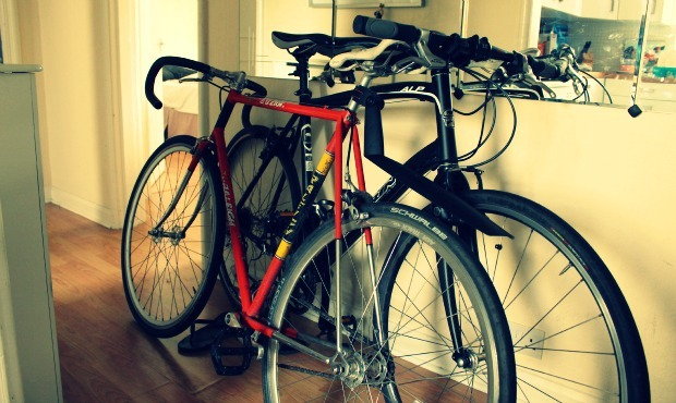 Bikes in hallway