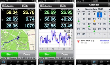 Cyclemeter is an iPhone app for cyclists wishing to use the GPS