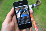 iPhone apps for cyclists - image used in newsletter