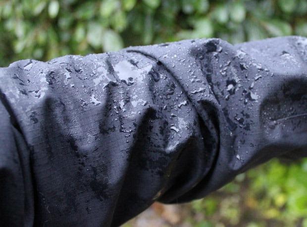 Waterproofing on a jacket