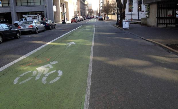 Bike lane Portland