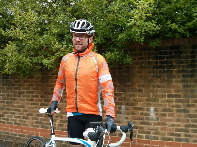 Rapha jacket as worn by Sam
