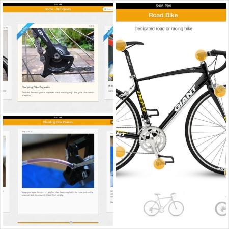 Bike doctor bike app for the iPad