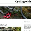 Cycling with heels London Cycling Blog screenshot