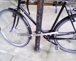 Bike locked with the Tigr Lock