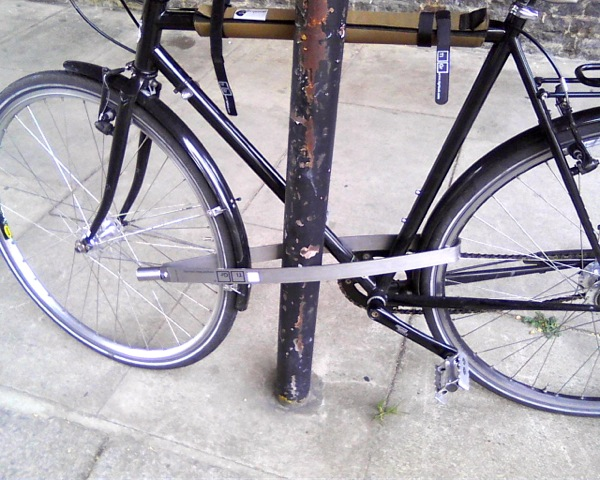 Bike locked with the Tigr Lock