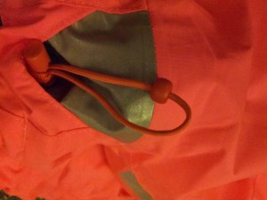 A drawstring at the collar