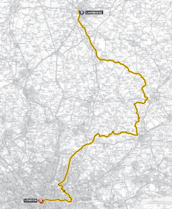 The stage route from Cambridge to London