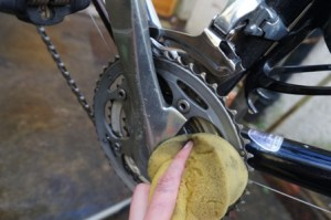 Clean the chainrings, too