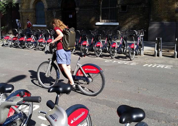Me on Boris bike