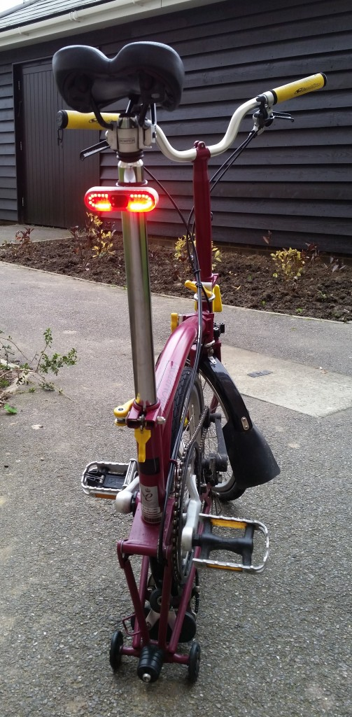 Blaze on bike