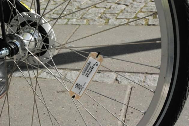 RIFD tag on wheel