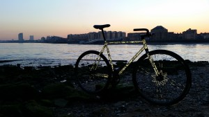 Bike on the waterfront