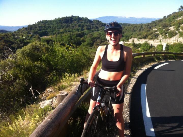 Photo of Harri Symes on her bike