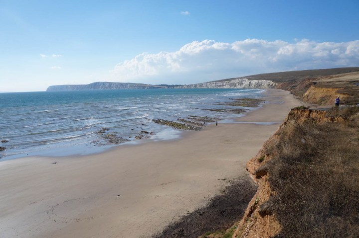 Compton Bay is on the Round the Island cycle route
