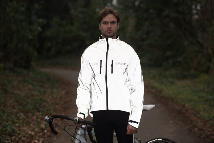 Man wearing Proviz 360+ cycling jacket