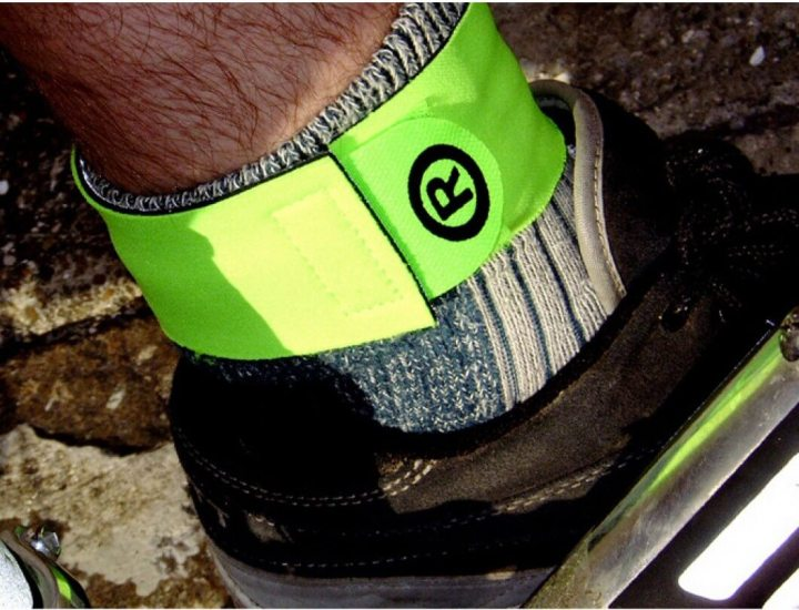 Image of ankle with respro reflective bands