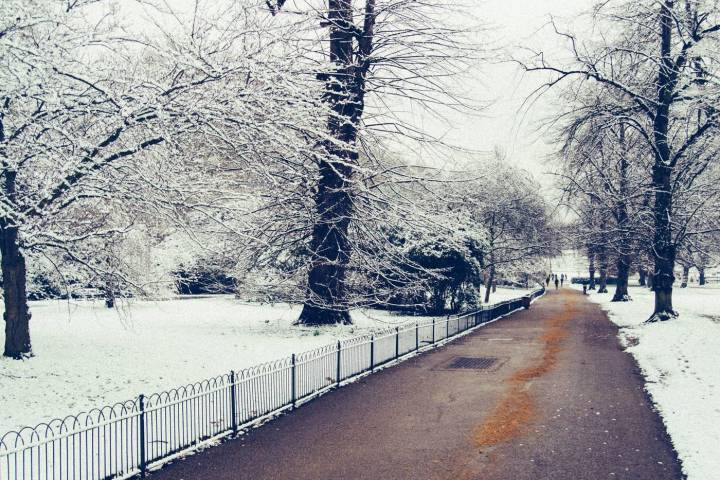 Michele Vascellari via Flickr showing snow in hyde park