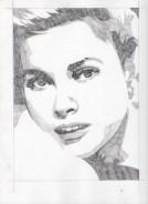 Grace Kelly Pencil Sketch 1