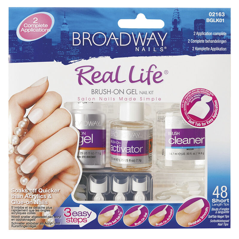 Broadway Nails Real Life Brush On Gel Kit Bglk01