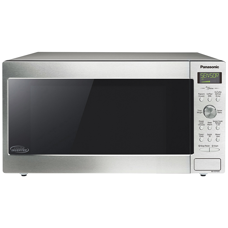 panasonic 1 6 cu ft genius cyclonic inverter microwave stainless nnsd765s