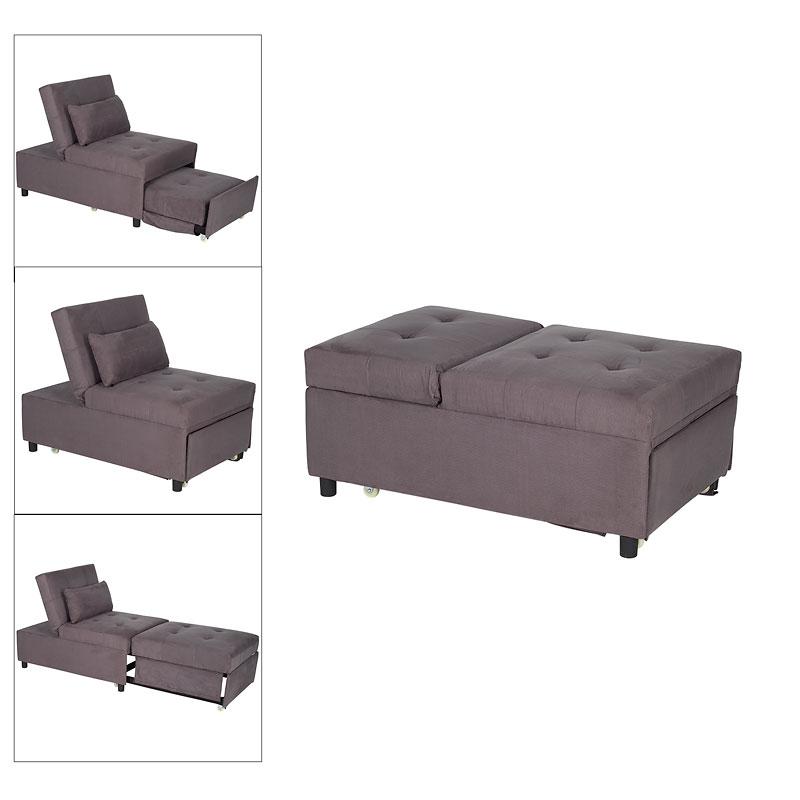 collection adjustable microfiber sofa bed grey london drugs