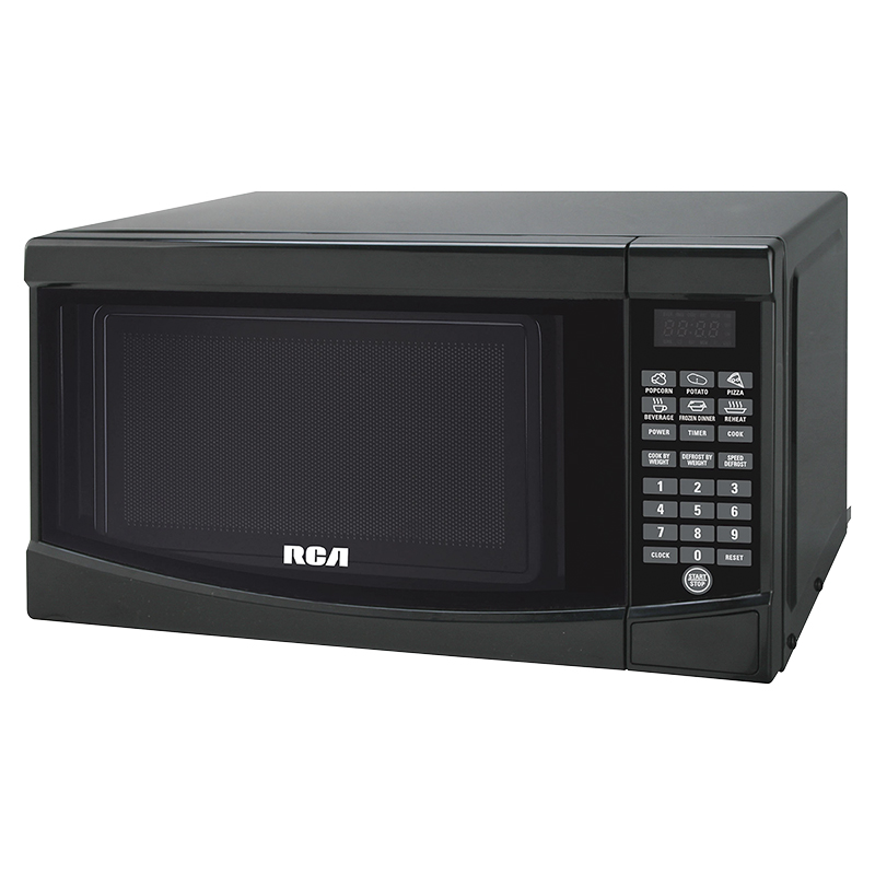 rca 0 7 cu ft microwave black rmw733b