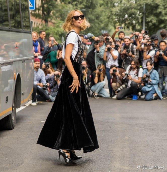 Candela Novembre at Milan Fashion Week Giorgio Armani Show