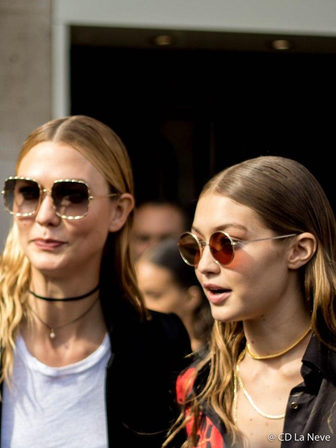 Gigi Hadid & Karlie Kloss Leaving Mugler Show at Paris Fashion Week