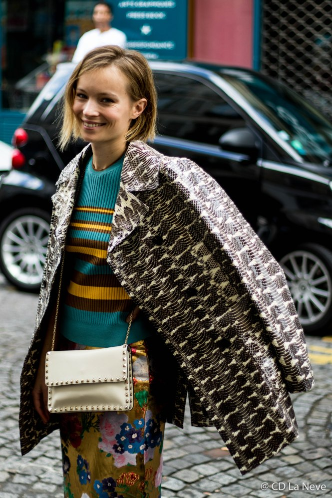 Diane Rouxel Street Style from Valentino Paris Fashion Week