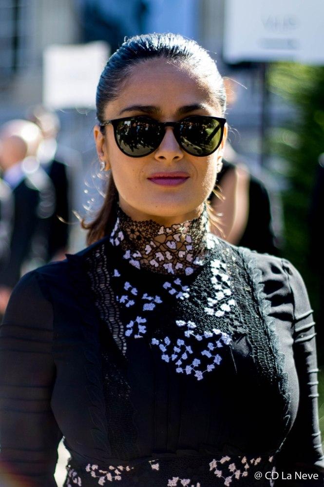 Salma Hayek Paris Fashion Week 2016