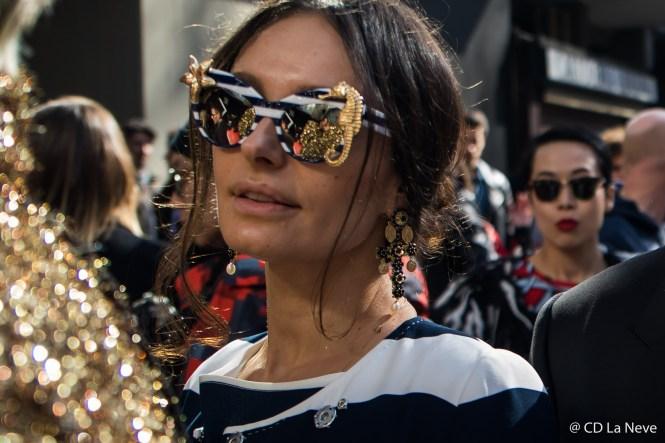 Milan Fashion Week Street Style Dolce Gabbana FW17