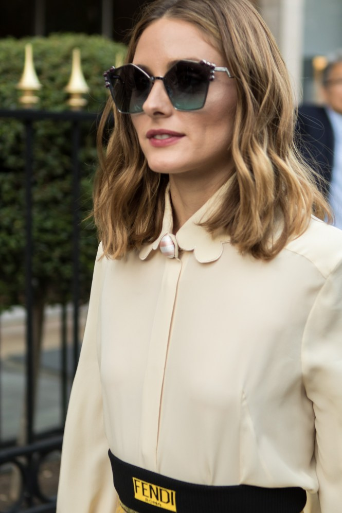 Olivia Palermo Fendi Haute Couture Street Style Paris Fashion Week AW17
