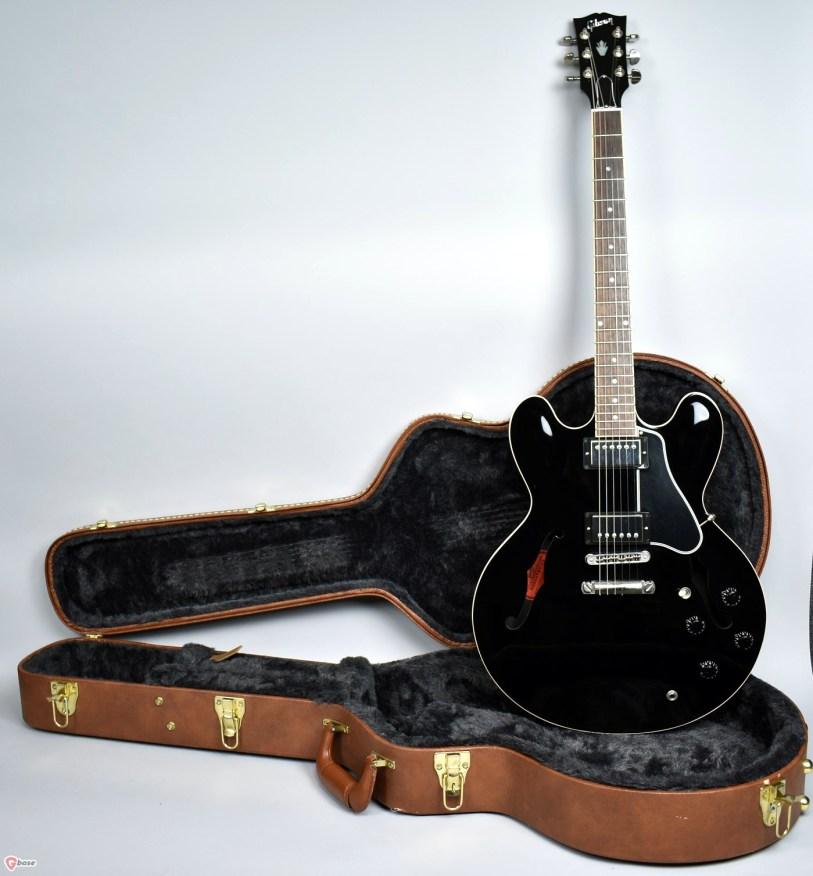 Repair Log: 1988 Black Gibson 335 semi-hollow electric guitar SN