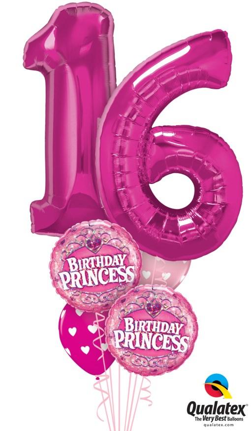 16th Birthday Princess Balloon Bouquet At London Helium Balloons