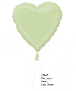 Leaf Green Helium Filled Foil Balloon