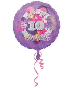 "Cool Kidz 10th Birthday 18"" Helium Filled Foil Balloon"