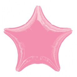 pink Metallic star helium filled balloon
