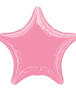 pink Metallic star helium filled balloon
