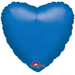 Metallic blue heart Helium Filled Foil Balloon
