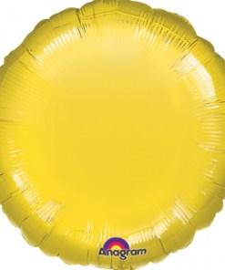 Metallic Yellow Helium Filled Foil Balloon