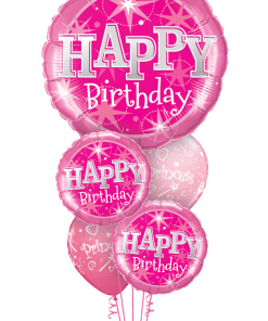 Haopy Birthday Pink Bouquet at London Helium Balloons