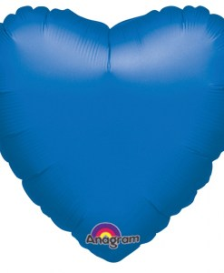 Personalised photo printed Saphire blue Foil Heart Balloon