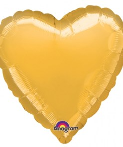 Personalised photo printed Gold Foil Heart Balloon